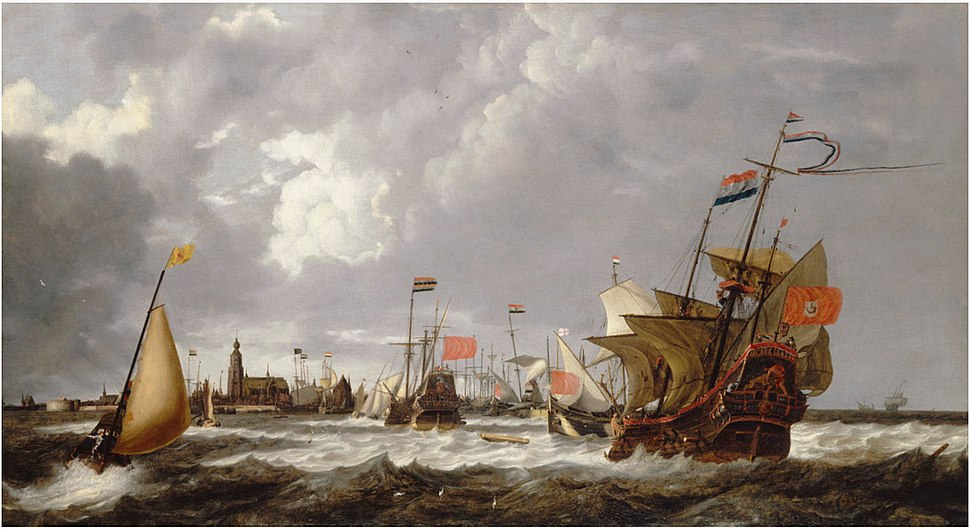 Bonaventura Peeters (I) - The 'Hercules' and 'Eenhorn' off the port of Hoorn