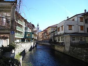 Borgo Valsugana - The Brenta river in Borgo Valsugana.