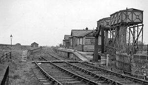 Boroughbridge - Remains of Boroughbridge railway station in 1961