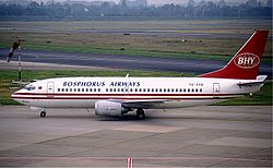 Boeing 737-300 der Bosphorus Airways