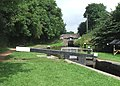 Bottom Locks at Meaford, Trent and Mersey canal, Staffordshire - geograph.org.uk - 555059.jpg