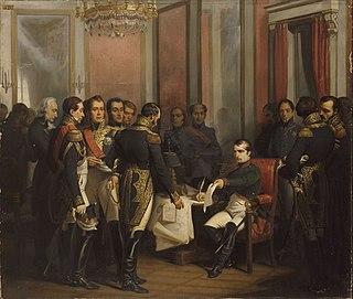 Treaty of Fontainebleau (1814) 1814 treaty that exiled Napoleon to Elba