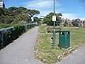 Bournemouth , West Cliff Gardens, Bench, and Bin - geograph.org.uk - 1320637.jpg