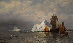 William Bradford: Whaler and Fishing Vessels near the Coast of Labrador