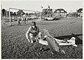 Bram van Tongeren op het RCH-veld met zijn modelvliegtuig. NL-HlmNHA 54020771.JPG