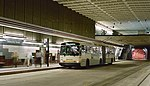 Breda dual-mode bus at University St station in Downtown Seattle Transit Tunnel 1994.jpg