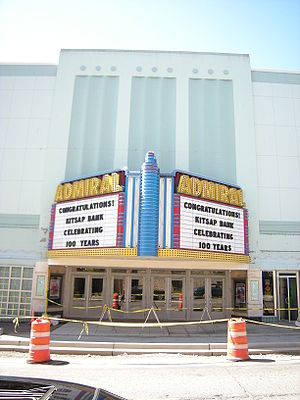 Bremerton, Washington - Bremerton's Admiral Theater opened in 1942 as a cinema; in the 1990s it was remodeled for performances and banquets.