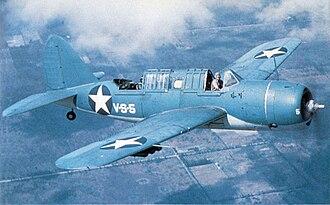 Brewster SB2A Buccaneer - An SB2A-4 near NAS Vero Beach, Florida, 1942–43