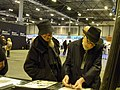 Brian Azzarello (l) and Frank Miller (r) in Heroes Comic Con Madrid 2017.jpg