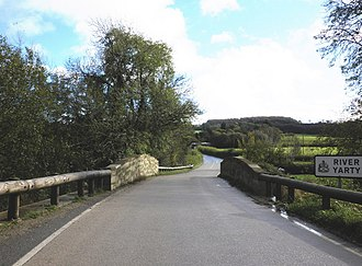 A30 road - The A30 crossing the River Yarty. The road was built by the Chard Turnpike Trust in the mid 19th century to compete with the New Direct Road, later the A303.