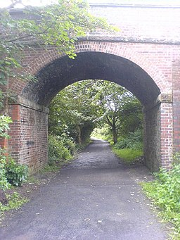 Bridge over the old Glasson Dock Railway - geograph.org.uk - 481447