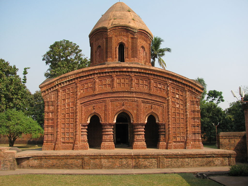 Group of temples known as Brindaban Chandra's Math