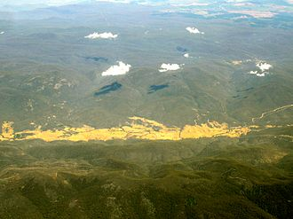 Brindabella, New South Wales - Aerial view of Brindabella Valley from east