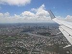 Brisbane city from plane Jan 2017.jpg