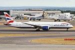 British Airways, G-ZBKF, Boeing 787-9 Dreamliner (30536909218).jpg