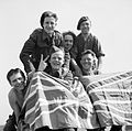 British Prisoners of War celebrate their liberation from Stalag 11B at Fallingbostel, 16 April 1945. BU3663.jpg