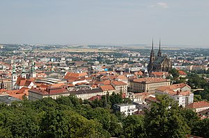 View on Brno from Spilberk Castle.