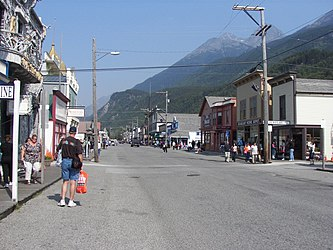 Broadway and French Alley in Skagway, Alaska.jpg