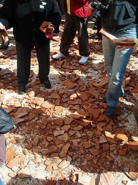 File:Broken vases on Holy Saturday in Corfu.jpg