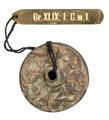 Bronsknopp med skrifttecknet Ki betydande lycka - Hallwylska museet - 100144.tif