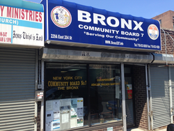Bronx Community Board 7 office.