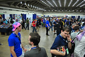 BronyCon - The vendor hall at the 2014 BronyCon Convention, with more than 200 freelance vendors selling handcrafted My Little Pony: Friendship Is Magic artwork