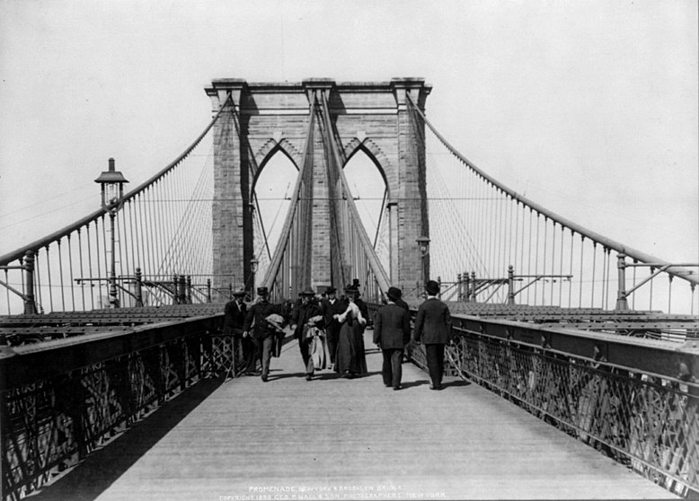 File:Brooklyn Bridge New York City 1898 Pedestrian Crossing.jpg
