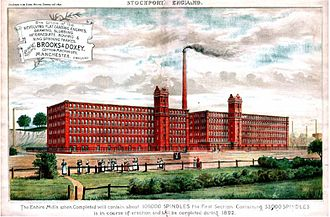 Heaton Norris - One of the three Stockport Ring Mills in Heaton Norris. The mills ran from 1892–1911 with 200,000 spindles