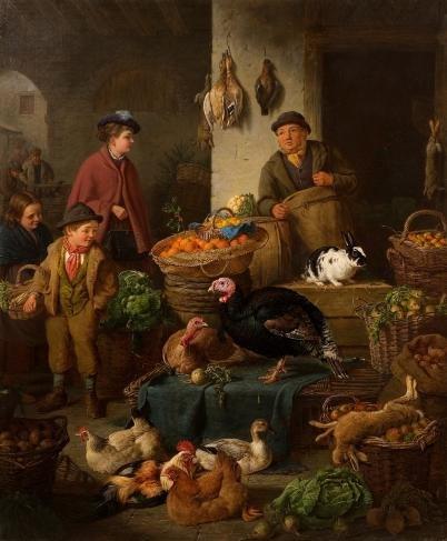 Bryant, Henry Charles - The Market Stall - 20th century