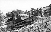 Italsk� tan��k L3 v �ecku