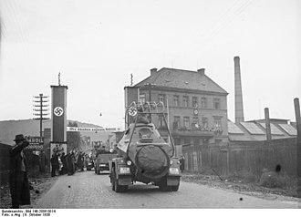 Ústí nad Labem - Image: Bundesarchiv Bild 146 2006 0014, Anschluss sudetendeutscher Gebiete, Aussig