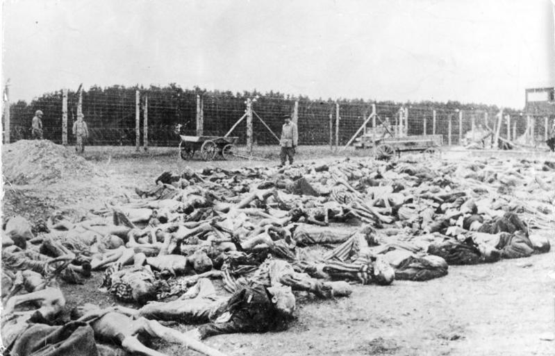 Bundesarchiv Bild 183-35011-0004, KZ Buchenwald, Leichen von Häftlingen