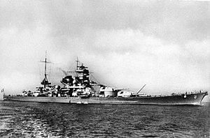 """German battleship Scharnhorst - Image: Bundesarchiv DVM 10 Bild 23 63 07, Schlachtschiff """"Scharnhorst"""""""