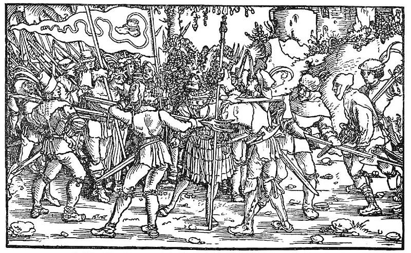 File:Bundschuhfahne Holzschnitt 1539 Petrarcas Trostspiegel.jpg