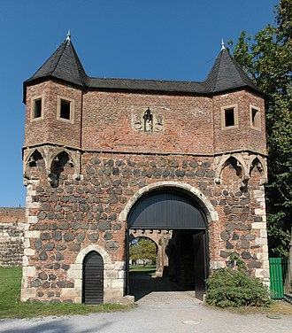 Wicket gate - South gate of Friedestrom Castle with its wicket (pedestrian entrance)