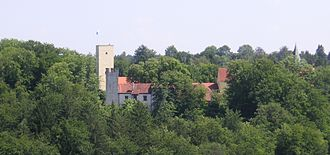 Grünwald, Bavaria - Grünwald castle in the Isar valley