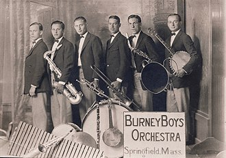 Winston Sharples - Winston Sharples, far left, played piano and orchestrated music for the Burney Boys Orchestra in the 1920s.