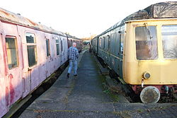 Butterley railway station, Derbyshire, England -trains-19Jan2014 (4).jpg