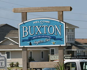 Buxton, North Carolina - Welcome sign