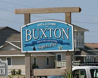 Buxton, North Carolina - Welcome sign