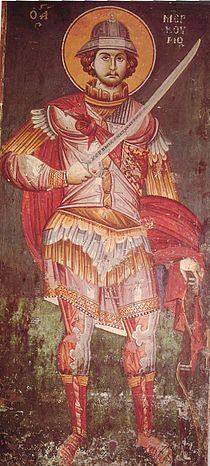 Byzantine icon St-Mercurius 1295.jpg