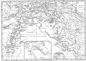 Corduene - Korduene in northern and northeastern Mesopotamia; map from the Encyclopaedia Biblica