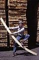 C.1964. Man bending a piece of lumber. (35679548770).jpg