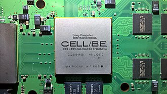 Cell (microprocessor) - Cell BE as it appears in the PS3 on the motherboard