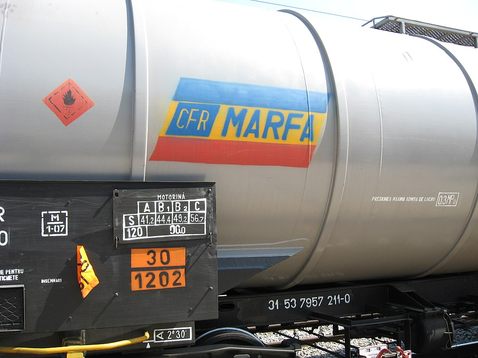 CFR Marfă freight train contains diesel product
