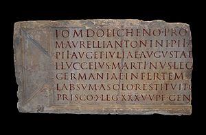 Jupiter Dolichenus - Image: CIL XIII 8201
