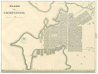 Historic Centre of Cienfuegos - Cienfuegos city plan (1899)