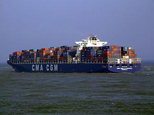 CMa CGM La Traviata p3, leaving Port of Rotterdam, Holland 01-Apr-2007.jpg