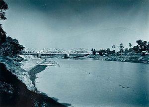 Citarum River - Image: COLLECTIE TROPENMUSEUM Spoorbrug over de rivier Citarum Tandjoengpoera T Mnr 60016122