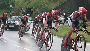 Team time trial - Image: CSC team 2004 TDF